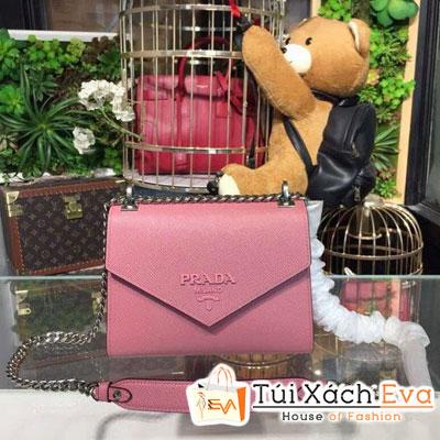 Túi Xách Prada Monochrome Saffiano Bag Siêu Cấp Màu Hồng 1BD127
