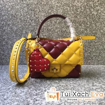 Túi Xách Valentino Hand Bag Siêu Cấp Màu Vàng Một Quai Xách