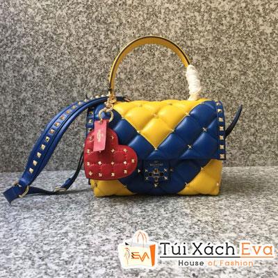Túi Xách Valentino Hand Bag Siêu Cấp Màu Xanh Dương Một Quai Xách