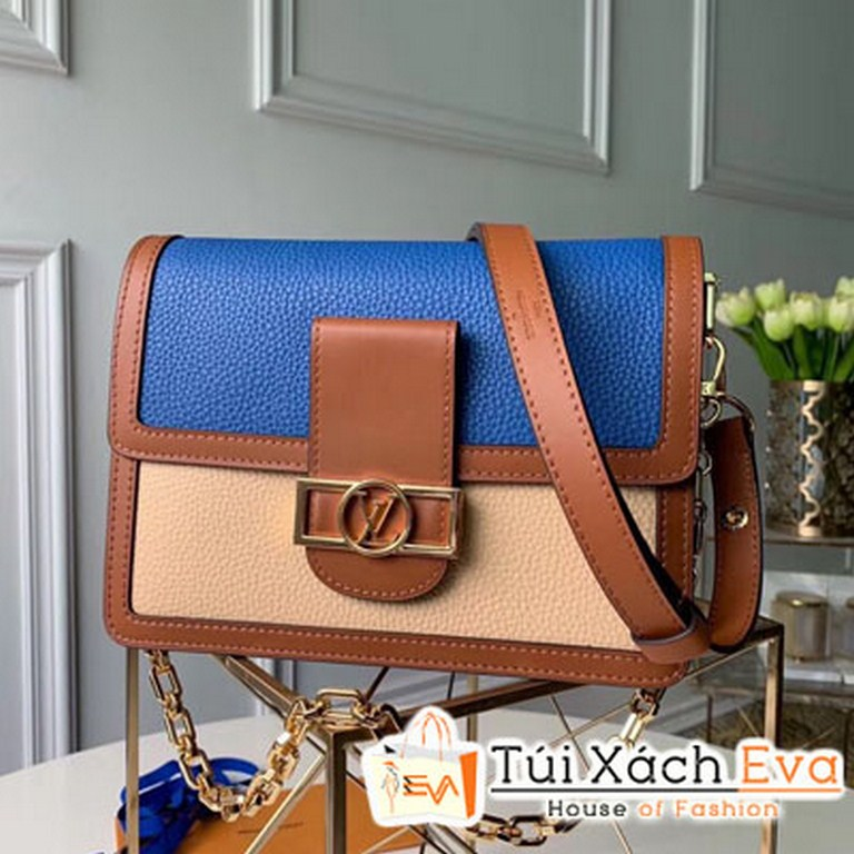 Túi Xách Vl Taurillon Leather Mini Dauphine Màu Xanh M53806