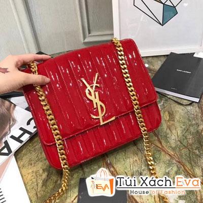 Túi Xách Ysl Siêu Cấp Da Bóng Màu Đỏ 532595