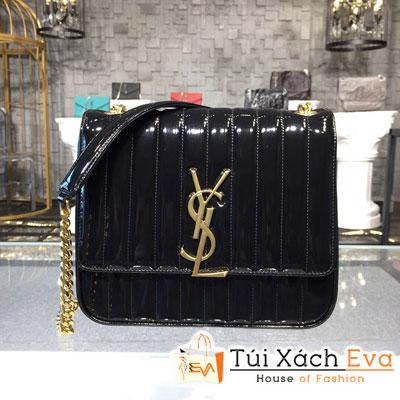 Túi Xách Ysl Vicky Siêu Cấp Màu Đen Da Bóng 532595