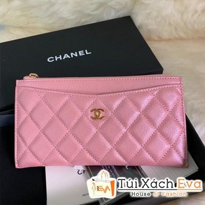 Ví Chanel Dài Siêu Vip Màu Hồng