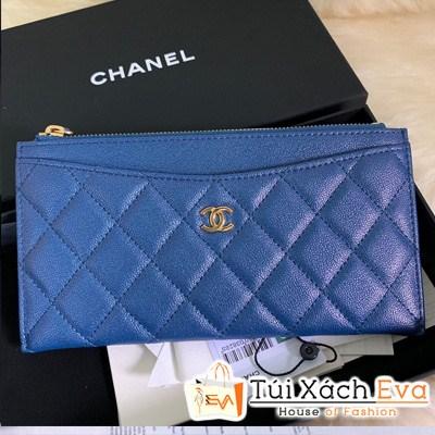Ví Chanel Dài Siêu Vip Màu xanh