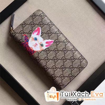 Ví Gucci Super Hình Mèo Viền Tím Đẹp