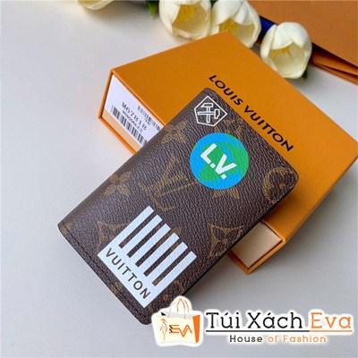 Ví Lv Pocket Organize Wallet Siêu Cấp Hoa Nâu M67818
