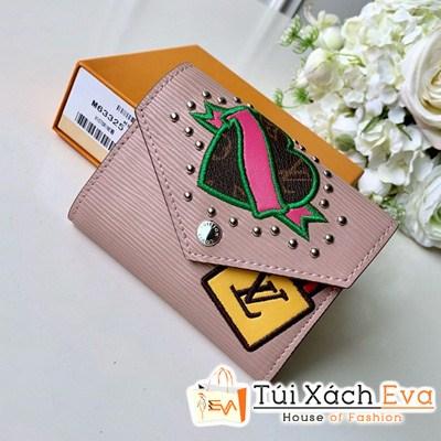 Ví Lv Victorine Wallet Siêu Cấp Tăm Hồng  M63325