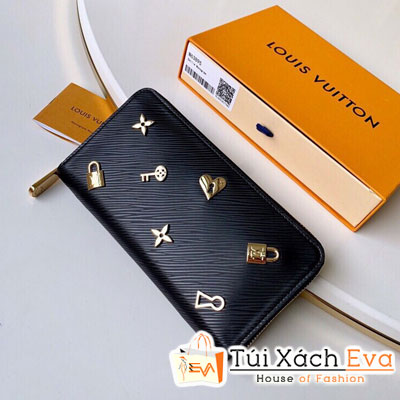 Ví Lv Zippy Wallet Siêu Cấp Màu Đen Tăm Phụ Kiện M63991