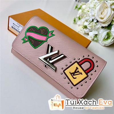 Ví Lv Zippy Wallet Siêu Cấp Tăm Hồng Khóa Xoay M63377