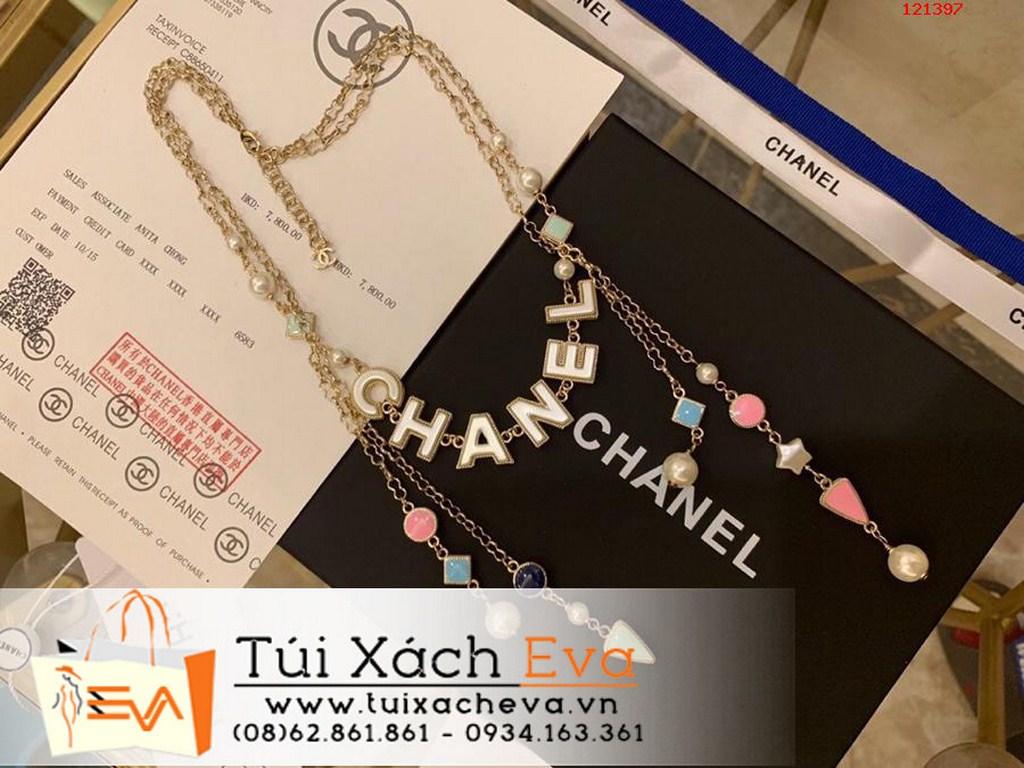 Vòng Cổ Chanel Hạt Màu